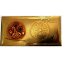 Golden Cardboard Gold Plated Krishna Morpankh Envelopes