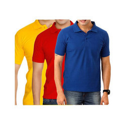 Large Cotton Plain Collar T Shirt