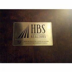 Brass Acrylic Signage Board