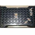 Rectangular Black Plastic Packaging Tray