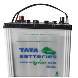 TATA Green 55D23L 54Ah PREMIO Car Battery, Capacity: 54 Ah