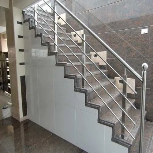 Silver Stainless Steel Stairs Railing