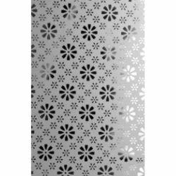 Fleur Etched Glass