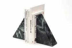 Black stone bookend