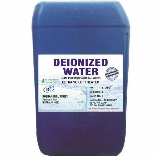 Clean Deionized Water De Ionized Water Deionised Water