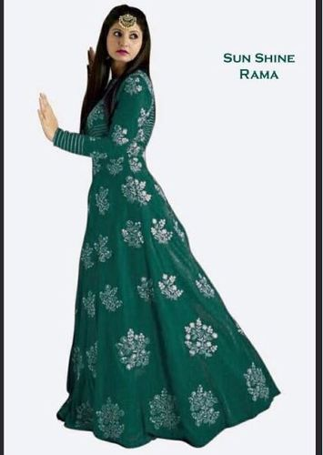 d934e6ef14 Medium Taffeta Silk Sunshine Rama Long Flair Gown, Rs 695 /piece ...