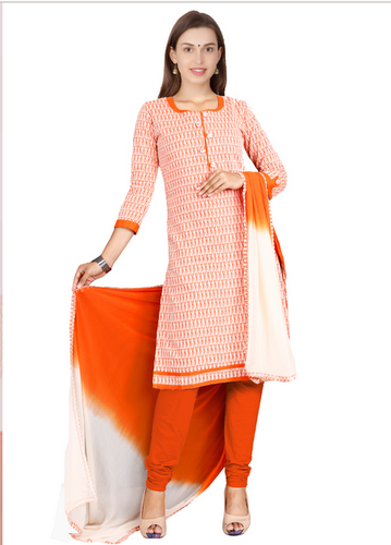 b6323d940a Vismay South Cotton Orangered Printed Churidar Material at Rs 899 ...