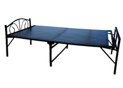 Mild Steel Black Folding Bed Frame, Size: 6 By 3 Feet