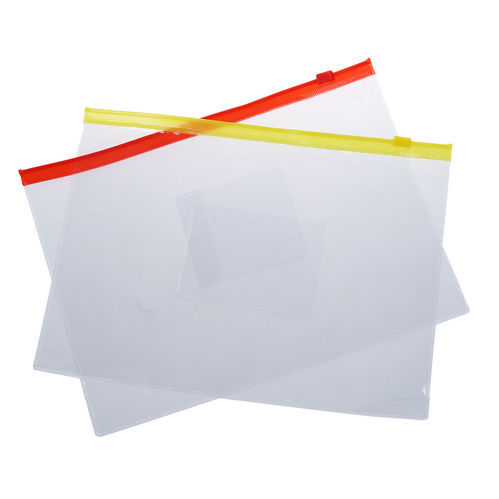 Transparent Zipper Storage Bag, Size: 10 X 12 And 14 X 16 Mm