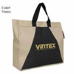 Black And Brown Jute Printed Promotional Bag, Capacity: 5kg