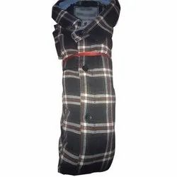 Casual Wear Checks Mens Collar Neck Check Shirt, Size: S-xl, Packaging Type: Packet
