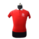 Red Half Sleeve School T Shirt