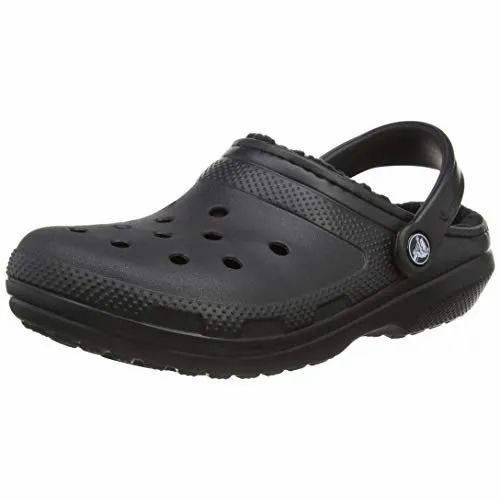 Black Men Crocs Mens Slippers, Size: 5
