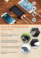 10000mah Solar Power Bank