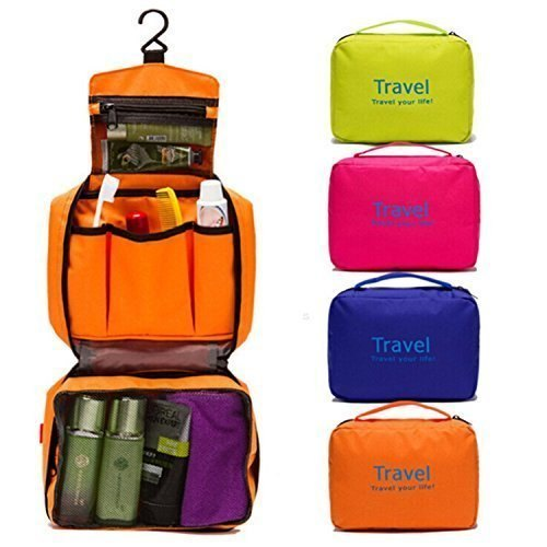 Product Image. Portable Travel Toiletry Zipper Cosmetic Makeup Pouch Storage  Hanging Bag 05ef37e596a3c