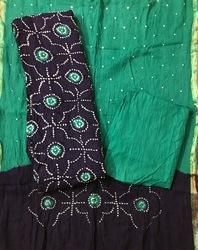 Rama Bandhani Dress Material