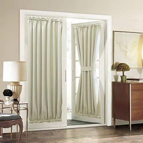 White Cotton Plain Door Curtain, Size: 7 To 9 Feet(height)