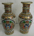 Gold Work Marble Vases