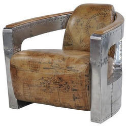 Aviator Printed Leather Sofa Cum Chair