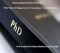 International Business Thesis Consultancy Service