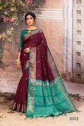 Designer Banarasi Silk Saree Weaving with Blouse Piece