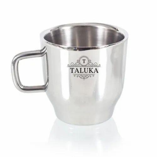 f8866a30edd Stainless Steel Mirror Finish Insulated Double Wall Coffee and Tea Mug Cup  200 ML