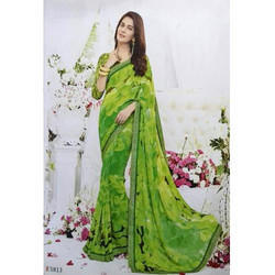 Vimal Georgette Ladies Casual Saree, Without Blouse Piece