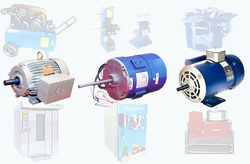 Crompton Single Phase and Three Phase Chiller Unit Motors, 0.6-2.5 hp and 5.5-7.5 hp