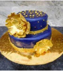 Royal Blue Gold Wedding Cake At Rs 15000 Piece Shaadi Ka Cake