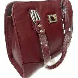 Black Mirror Fashionable women leather hand bags, Size: Regular