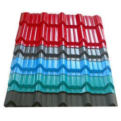 Tile Profile Roofing Sheets, Thickness:0.196- 1.2 mm