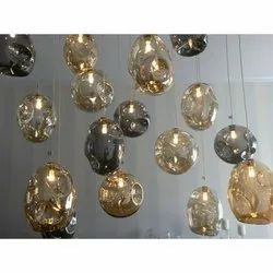Cage Type Glass LED Chandelier Light