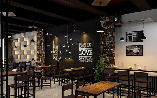 Cafe Interior Design, 3D Interior Design Available : Yes
