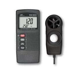 Environment Meter, Humidity, Anemometer, Light, Type K/J