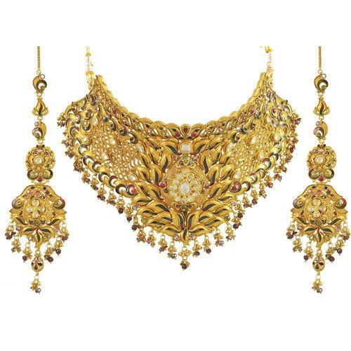 Gold Necklace Set At Rs 35000 Set Necklace Set Prem Jewellers