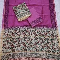 Party Wear Printed Chanderi Silk Kalamkari Suits