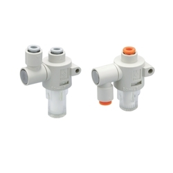 SMC Air Suction Filter With One Touch Fittings ZFB