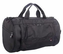 Subam Black Double Zipper Duffle Bag