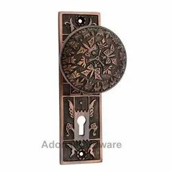 Dabbasheth Brass Door Knob with Plate