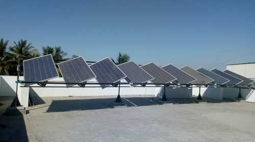 Solar Tracker Dual Axis Rail Track Auto Tracking Solar System (structure)