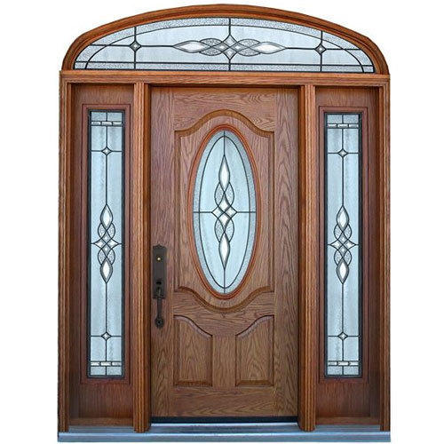 Brown Fancy Entrance Door