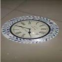 Bone Inlay Wall Clock