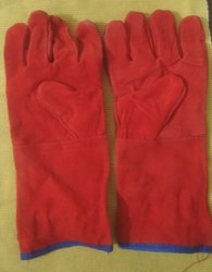 Unisex Welding Lather Hand Gloves, 11-15 Inches, Finger Type: Full Fingered