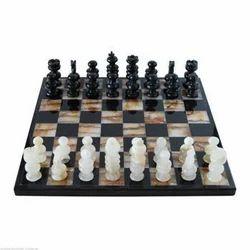 Black Marble Chess Set