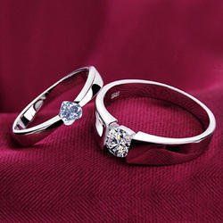 925 Sterling Silver Couple Lover Rings