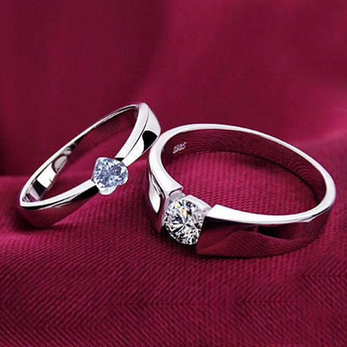 925 Sterling Silver Couple Lover Rings At Rs 3618 Piece Sitapura