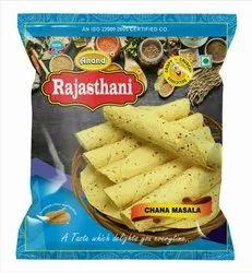 Rajasthani Pale yellow Chana Masala Papad