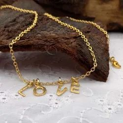 GOLD PLATED LOVE TEXT NECKLACE