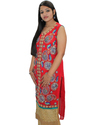 Stepup Women Georgette/crape Inner Beautiful Embroidered Kurti (with Sleeves)