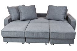 Brown, White L Shape Sleeper Sofas, Seating Capacity: 6 Seater, Back Style: Tight Back